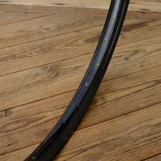 """Fahrradfelge f. Drahtbereifung, 26"""" x 1.75, (559), Stahl, schwarz, orig. 30-50er Jahre, 36 Loch, 37mm breit"""