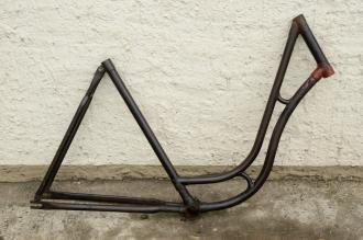"""Fahrradrahmen """"MIELE"""",  Damenausf., 28 Zoll , RH=55cm, orig. 50er J., ohne Gabel,  ohne Tretlager"""