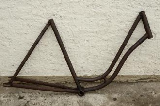 "Fahrradrahmen ""GLORIA"",  Damenausf., 28 Zoll , RH=55cm, orig. 10er J., ohne Gabel,  ohne Tretlager"