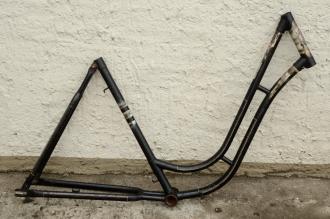 """Fahrradrahmen """"NSU"""",  Damenausf., 28 Zoll , RH=53cm, orig. 50er J., ohne Gabel,  ohne Tretlager"""