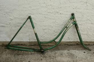 """Fahrradrahmen """"TRIPOL"""",  Damenausf., 28 Zoll , RH=54cm, orig. 30er J., incl. Gabel,  ohne Tretlager"""