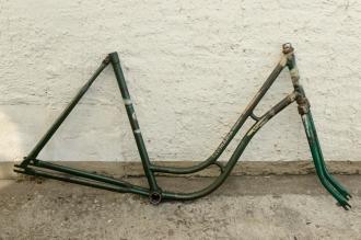 """Fahrradrahmen """"GERMANIA"""",  Damenausf., 28 Zoll , RH=55cm, orig. 50er J., incl. Gabel,  ohne. Tretlager"""