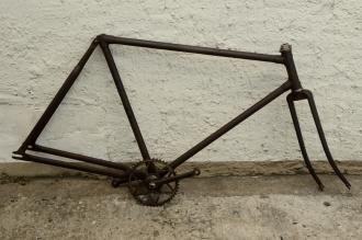 """Fahrradrahmen """"PHÄNOMEN"""",  Herrenausf., 28 Zoll , RH=57cm, orig. 30er J., incl. Gabel,  incl. Tretlager"""