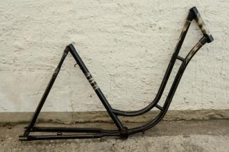 """Fahrradrahmen """"NSU"""",  Damenausf., 28 Zoll , RH=54cm, orig. 50er J., ohne Gabel,  ohne Tretlager"""