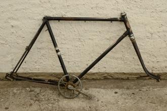 "Fahrradrahmen ""NSU"",  Herrenausf., Sport, 26 Zoll , RH=55cm, orig. 50er J., incl. Gabel,  incl. Tretlager"