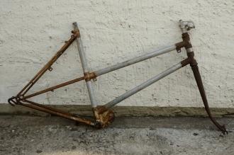 "Fahrradrahmen ""GR Gnome Rhome"" Frankreich,rarer Hilfsmotor-Rahmen,  orig. 40/50er J"
