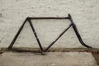 """Fahrradrahmen """"DÜRKOPP"""",  Herrenausf., 28 Zoll , RH=56cm, orig. 50er J., incl. Gabel,  ohne Tretlager"""