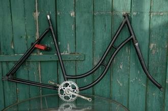 "Fahrradrahmen  ""OPEL"",  Damenausf., schwarz, 28 Zoll ,  RH=54cm, 30er J., incl. Gabel u. Tretlager"