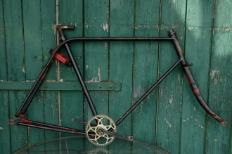 "Fahrradrahmen  ""OPEL Doppelstabil"",  Herrenausf., schwarz, 26 Zoll Ballonausf.,  RH=59cm, 30er J., incl. Gabel u. Tretlager"