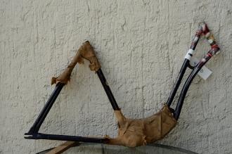 """Fahrradrahmen  """"SCHÜRHOFF Compact"""",  Damenausf., schwarz, 28 Zoll,  RH=55cm, 50/60er J., ohne Gabel / Tretlager"""