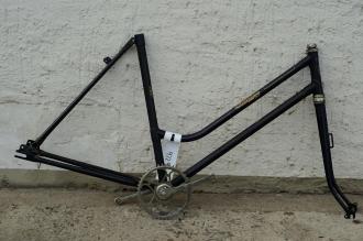 "Fahrradrahmen ""RIXE-HERDER"",  Damenausf., 28 Zoll , RH=53cm, orig. 50er J.,alte neuware,  incl. Gabel,  u. Tretlager"