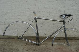 """Rennrad / Randonneur """"MOTOBECANE Grand Jubilee"""" ,  vollverchromt, 80er Jahre, RH: 58 cm, sehr schön erhalten"""