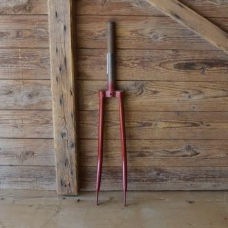 Gabel 26 Zoll orig. 30er Jahre unrestauriert, Schaftlänge 218 mm, Weite oben 46 mm, Zustand siehe Bilder