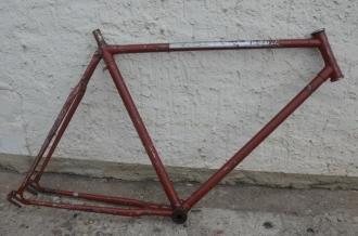 """Fahrradrahmen """"Adler"""" Herrenausf. 28 Zoll, Stahl, nachgestrichen, RH=55 cm, 50er Jahre"""