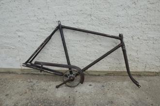 """Fahrradrahmen """"Brinkmark"""" Herrenausf. 28 Zoll, Stahl, RH=56 cm, 50er Jahre."""