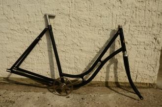"""Fahrradrahmen """"Dürkopp Elektra"""", 28 Zoll, gut restauriert, Rahmenhöhe = 55 cm, 20er Jahre"""