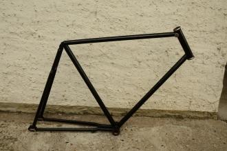 """Fahrradrahmen """"Mars Modell 06"""" Herrenausf., 20er Jahre, NOS, Rahmenhöhe = 61 cm, originale Linierung grün-gold, 28 Zoll"""
