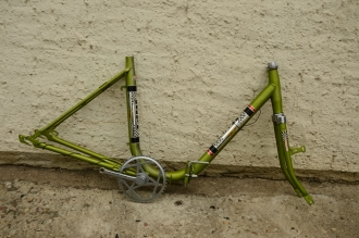 "Fahrradrahmen ""Klapprad Rallye, Neckermann"", alte Neuware, Rahmenhöhe = 45 cm, 24 Zoll"