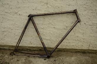 "Fahrradrahmen ""Dürkopp"", Herrenausf., Rahmenhöhe = 60 cm, 28 Zoll, 30er Jahre Profimodell"