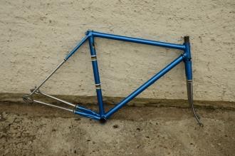 """Rennradrahmen """"unbekannt"""", 28 Zoll, blau metallic, verchromt, Rahmenhöhe = 50 cm"""