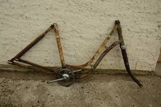 "Fahrradrahmen ""unbekannt"", Damenausf., Rahmenhöhe 46 cm, 28 Zoll"