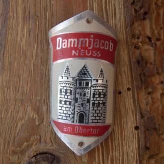Steuerkopfschild DAMMJACOB, Neuss, 30-50er Jahre, Originalschild aus Sammlungsbestand