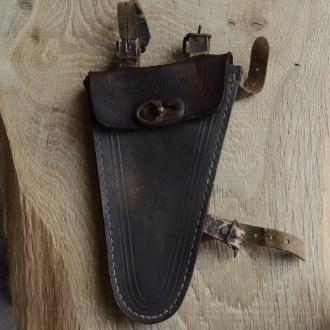 Werkzeugtasche VATERLAND,  Herrenrad, Leder, braun, orig. 30/40er Jahre, altersbed.  Patina
