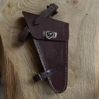 Werkzeugtasche LOHMANN,  Damenrad, Lefa  braun, orig. 30/40er Jahre, alte Neuware, altersbed.  Patina