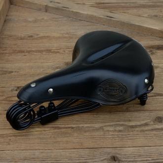 """Sattel Touren Lepper """"D-90"""", schwarze Kernlederdecke mit schwarzem Untergestell, Decke B=225mm L=275mm"""