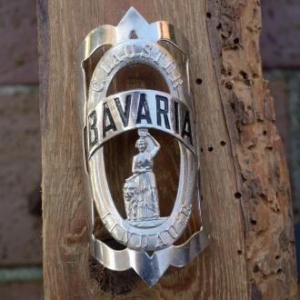 Steuerkopfschild BAVARIA, 10-20er Jahre, Originalschild aus Sammlungsbestand