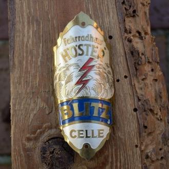 Steuerkopfschild BLITZ, Celle, 30-50er Jahre, Originalschild aus Sammlungsbestand