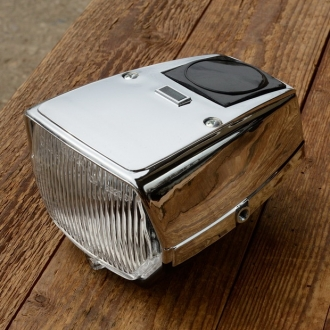 Scheinwerfer Moped, chrom für Tachoeinbau VDO geeignet, ohne Schalter, passend f. viele Mofas