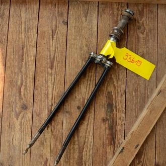"""Gabel 26"""" orig. 60er J. unrestauriert, Schaftlänge 181 mm, Scheidenlänge 365 mm, Weite oben 56 mm, Zustand siehe Bilder"""