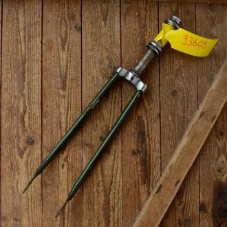 """Gabel 26"""" orig. 60er J. unrestauriert, Schaftlänge 185 mm, Scheidenlänge 370 mm, Weite oben 63 mm, Zustand siehe Bilder"""