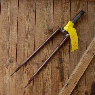 """Gabel 26"""" orig. 60er J. unrestauriert, Schaftlänge 163 mm, Scheidenlänge 365 mm, Weite oben 56 mm, Zustand siehe Bilder"""