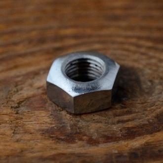 Achsmutter FG 9,5mm, verchromt, für Hinterachse, orig. Altbestand