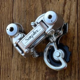 """Schaltwerk """"SIMPLEX"""", 5-6-fach, Aluminium, hochwertiges Modell der 70/80er Jahre,  NOS"""