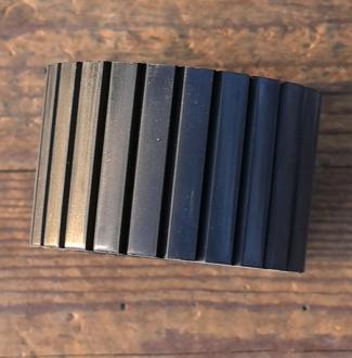 """Reibrolle """"ILO F48 Mittelmotor"""",  Gummi, schwarz, D=51/68mm, B=44mm, Continental-Ausführung"""