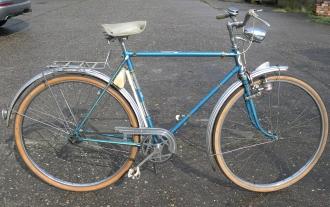"""Herrenfahrrad Sport, """"NSU  Sport """", 60er Jahre , blau, RH=ca. 56cm, 28 Zoll !,  Dreigang, Originalzustand"""