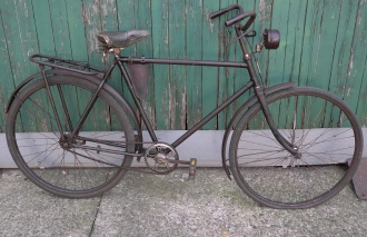 """Herrenfahrrad """"OPEL"""", Bj. 1936, schwarz,  RH: 57cm , 28 Zoll  Wulstbereifung, unrestauriert"""