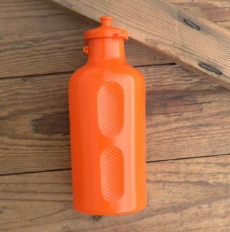 Trinkflasche, REG Atox, orig. 70/80er Jahre, orange, ohne Aufdruck,  Kunststoff, orig. Altbestand, NOS