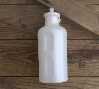 Trinkflasche, REG Atox, orig. 70/80er Jahre, weiß, ohne Aufdruck,  Kunststoff, orig. Altbestand, NOS