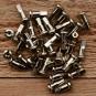Speichennippel 2mm, D-Schaft=4.8mm, L=14mm, Messing vernickelt