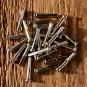 Speichennippel f. Holzfelgen, 2mm, D-Schaft=4.0mm, L=25mm, Messing vernickelt, Rundkopf